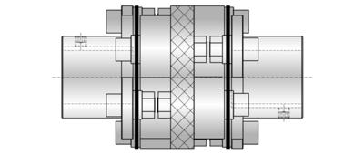 [Translate to Italienisch:] LPH4 Lamellenkupplung mit elektrischer Isolierung